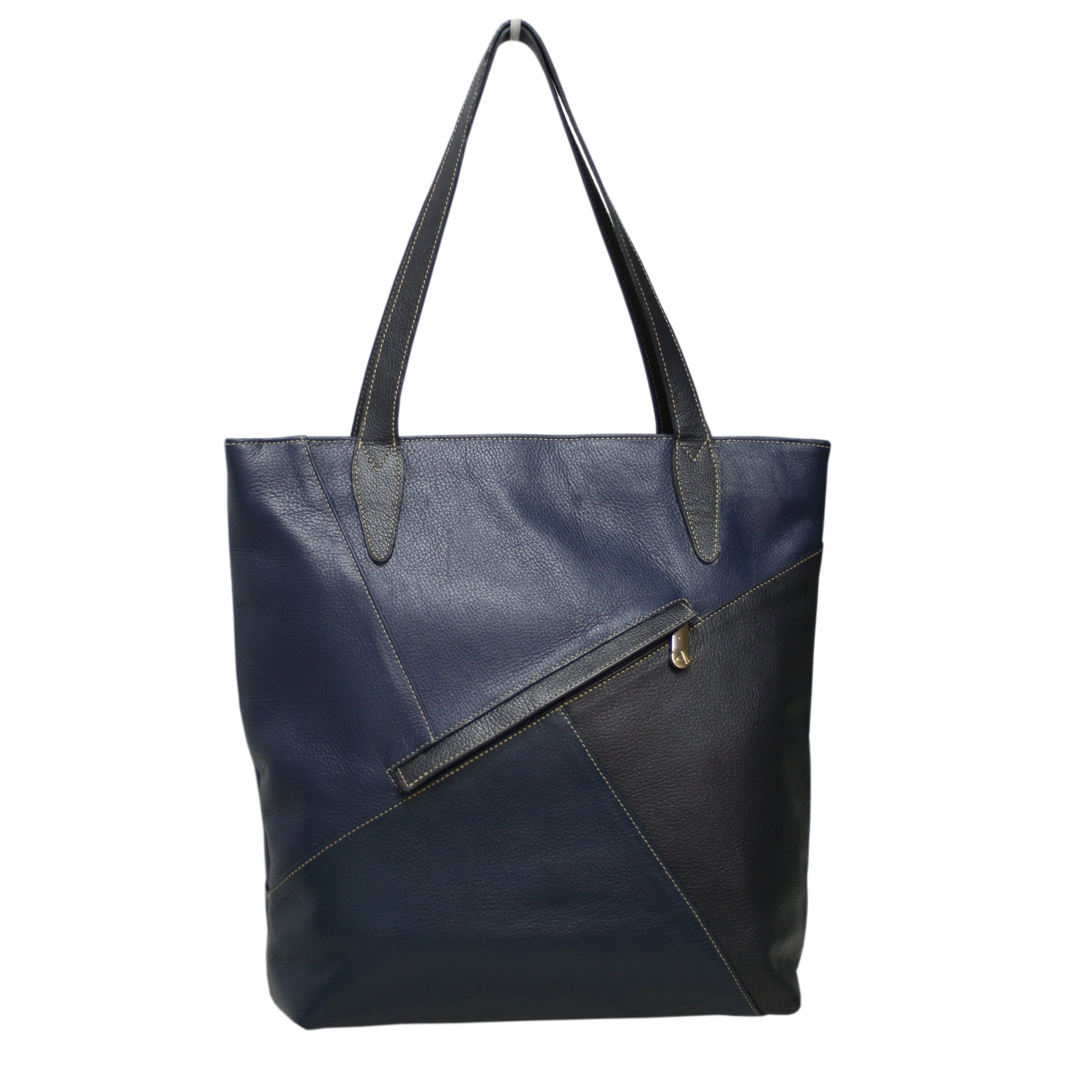 Bolsa sacola de couro Marte Azul