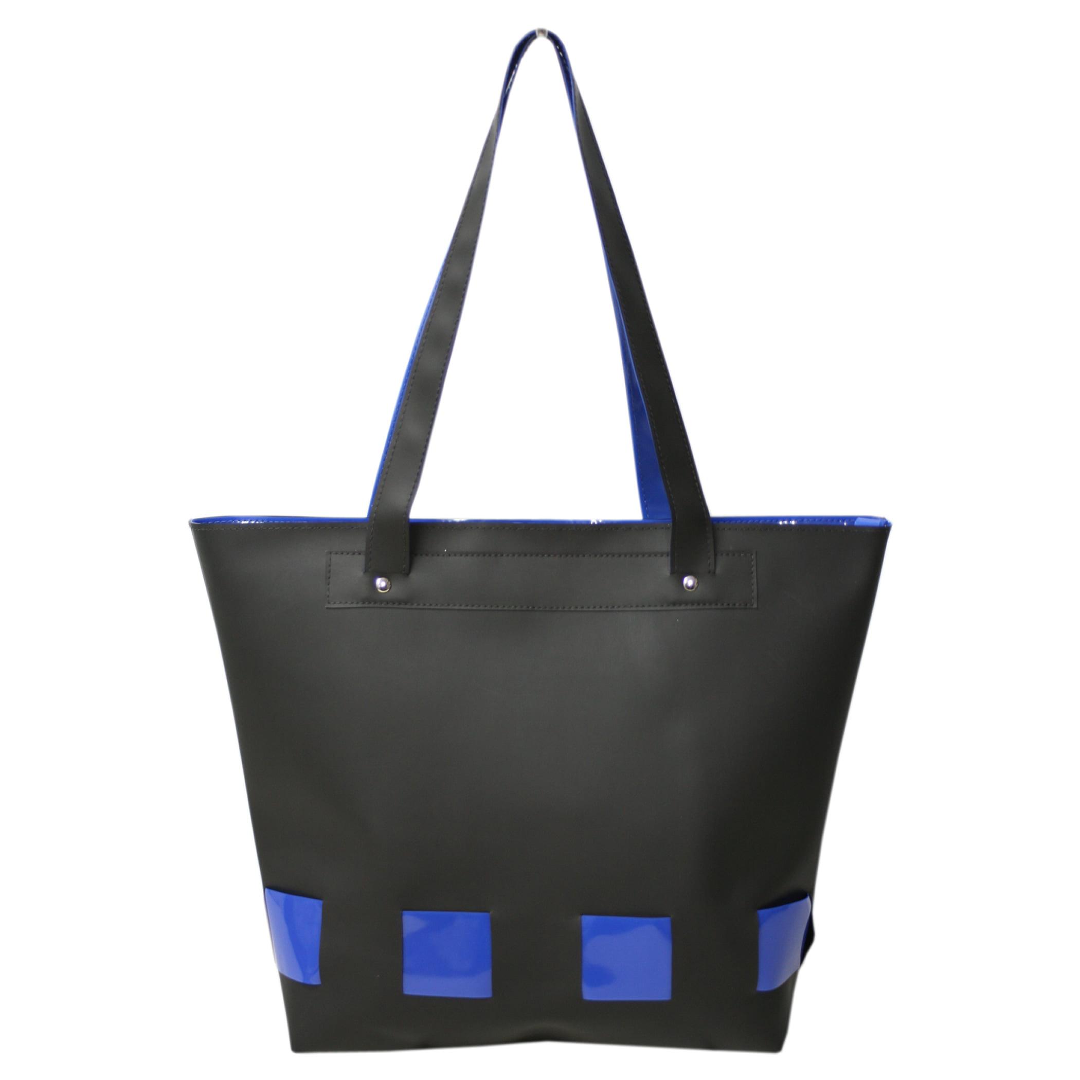 Bolsa de praia Preta e azul Sitonia