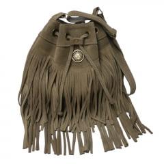 Bolsa em camurça saquinho cinza Korkula