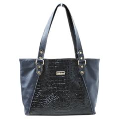 Bolsa Sacola Couro Orion Azul Preto