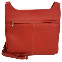 Bolsa transversal feminina em couro vermelho Marselha