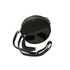 bolsa tiracolo redonda preta  Luna