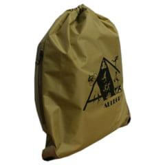 mochila saco Esportiva dourada