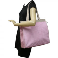 Bolsa feminina casual rosa