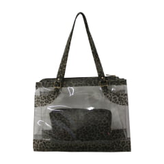 Bolsa de praia onça e transparente Kabira