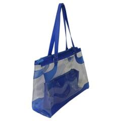 Bolsa de praia azul e transparente Kabira
