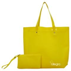 bolsa praia amarela Happy