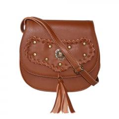 bolsa feminina trançada marrom