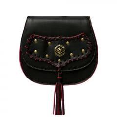 bolsa feminina trançada preta
